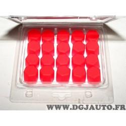 Lot 20 bouchons cache ecrou boulon rouge 17mm silicone Simoniracing CBR17