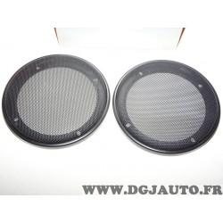 Paire de grilles ronde 130mm diametre adaptable enceinte haut parleur Norauto 315901