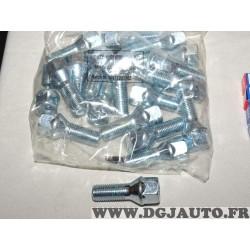 Lot 20 boulons de roue fixation jante M14x1.5 SW19 Norauto 320363 1597220218Z