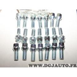 Lot 21 boulons de roue conique M14X1.5 SW17 fixation jante Norauto 314120204142