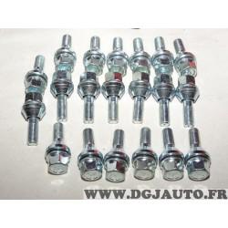 Lot 20 boulons de roue conique M12X1.25 SW19 fixation jante Norauto 320377 801116811Z