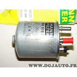 Filtre à carburant gazoil Mann filter WK918/2X pour renault kangoo laguna 3 III twingo 2 II 1.5DCI 1.5 DCI diesel