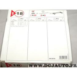 Kit pieds fixation barre de toit 1er 18 P20170622 pour dacia logan partir de 2004 sandero partir de 2008
