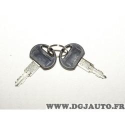 Paire clés de verrouillage barre de toit N°40 N° 040 40 Norauto Flex 2