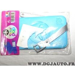 Porte étiquette étui adresse nom bleu clair bagage valise avion Color pop 3700536107309