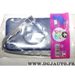 Porte étiquette étui adresse nom bleu foncé bagage valise avion Color pop 3700536107309