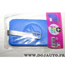 Porte étiquette étui adresse nom bleu bagage valise avion Color pop 3700536107309