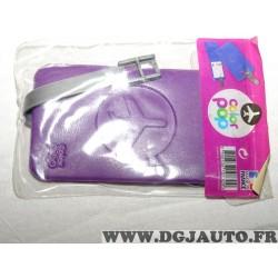 Porte étiquette étui adresse nom violet bagage valise avion Color pop 3700536107309