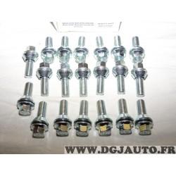 Lot 20 boulons de roue fixation jante M14x1.5 SW17 Norauto 320376