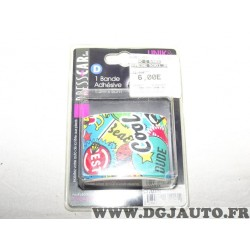 Bande autocollante decorative 5cm x 1.3m Dresscar 161406