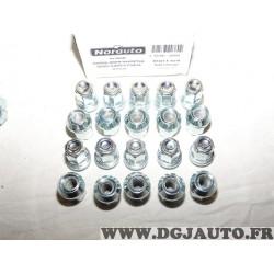 Lot 20 boulons de roue fixation jante M12x1.5 SW19 Norauto 320380