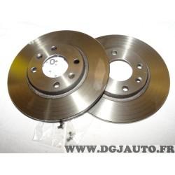 Paire disques de frein avant plein 266mm diametre Norauto ND4688 pour citroen BX peugeot 305 404 405