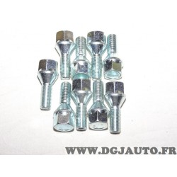 Lot 9 boulons de roue fixation jante M14x1.5 SW17 28mm Norauto 269409