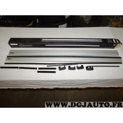 Paire barres de toit aluminium avec bouchons Wingbar 135cm de long Thule 962 962100