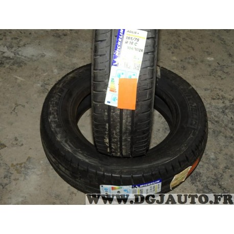 Lot 2 pneus neuf Michelin agilis + 185/75/16C 185 75 16 C 104 102R DOT0116