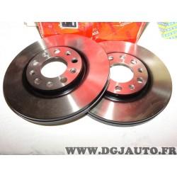 Paire disques de frein avant 281mm diametre ventilé TRW DF6450 pour alfa romeo giulietta fiat 500X jeep renegade
