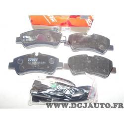 Jeux 4 plaquettes de frein montage lucas TRW GDB2161 pour ford tourneo transit dont custom