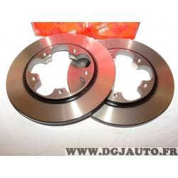 Paire disques de frein arriere 308mm diametre plein TRW DF6748 pour ford transit V363 partir de 2013