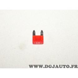 Lot 2 mini fusibles rouge 10A Renault 7700410574 pour renault dacia alfa romeo fiat lancia mercedes citroen peugeot skoda audi s