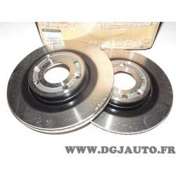 Paire disques de frein avant 258mm diametre ventilé Renault 402067025R pour renault clio 4 5 IV V twingo 3 III dacia logan sande