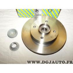 Disque de frein arriere 250mm diametre plein TOUT SEUL avec roulement de roue SNR KF159.57U pour citroen C3 dont picasso C4 DS3