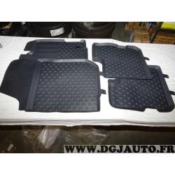 Ensemble 4 tapis de sol caoutchouc avant + arriere Renault 8201684227 pour dacia logan MCV