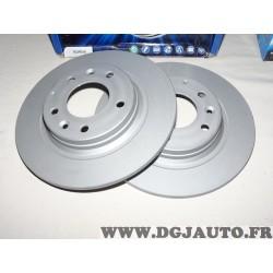 Paire disques de frein arriere plein 280mm diametre Requal RDP018 pour mazda 6 GG GH GY 323 BJ 626 GW MX5 NC premacy CP