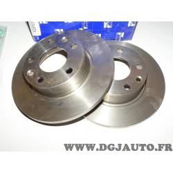 Paire disques de frein arriere plein 254mm diametre Requal RDP237 pour renault 25 R25 espace 2 II