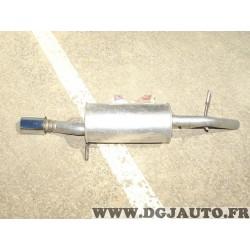 Silencieux echappement arriere embout chrome Klarius PG836T pour peugeot 207 1.6HDI 1.6 HDI diesel