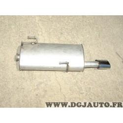 Silencieux echappement arriere embout chrome MTS 01.67300 pour peugeot 206 2.0 S16 essence 136CV