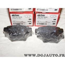 Jeux 4 plaquettes de frein arriere montage bendix Eicher 101545609 pour citroen C4 peugeot 307