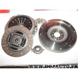 Kit embrayage disque + mecanisme + butée + volant moteur rigide Transmech 633540021 pour citroen C5 C8 jumpy fiat scudo ulysse l