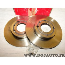 Paire disques de frein avant 239mm diametre plein Brembo 08.6785.10 pour seat arosa volkswagen polo 3 III