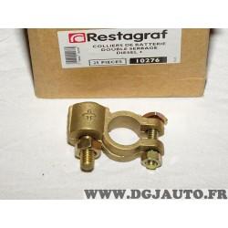 1 Cosse electrique positive branchement batterie universel double serrage Restagraf 10276 pour véhicules auto poids lourd tracte