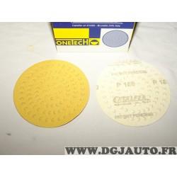 Boite 100 disques abrasifs poncage grain P180 150mm Onetech 95100180