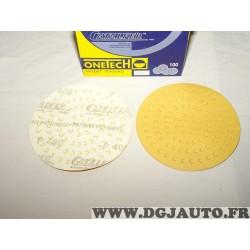Boite 100 disques abrasifs poncage grain P400 150mm Onetech 95100400