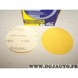Boite 100 disques abrasifs poncage grain P800 150mm Onetech 95100800