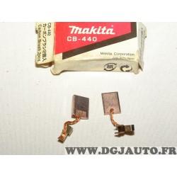 Jeu 2 balais charbon Makita CB-440 194427-5 pour perceuse tournevis disque de lecture drill touche impact