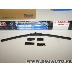 Balais essuie glace souple 550mm aerotwin avec 4 adaptateurs Bosch AP22U 3397006835 pour alfa romeo 147 159 brera GT spider BMW