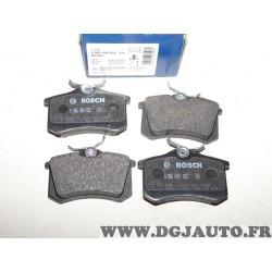 Jeux 4 plaquettes de frein arriere montage lucas Bosch BP293 0986494025 pour ford galaxy seat alhambra volkswagen sharan