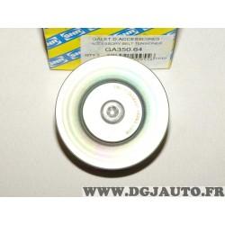 Galet enrouleur courroie accessoire SNR GA350.64 pour BMW serie 3 5 6 7 X3 X5 E46 E53 E60 E61 E63 E64 E65 E66 E67 E93 E90 E91 E9