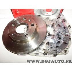 Paire disques de frein arriere 245mm diametre plein Eicher 104442229 pour audi 80 A4 seat exeo