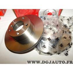 Paire disques de frein avant 296m diametre ventilé Eicher 104110589 pour BMW serie 5 E39 520 523 525 528 530 535