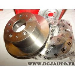 Paire disques de frein arriere 280mm diametre plein Eicher 104545589 pour citroen jumper peugeot boxer fiat ducato de 1994 à 200