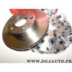 Paire disques de frein avant 300mm diametre plein Eicher 1047350549 pour citroen jumper peugeot boxer fiat ducato de 1994 à 2006