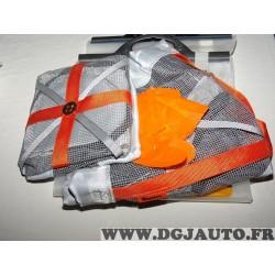 Paire chaussettes neige Autosock 540 pour pneus roue jante 155/70/12 155/80/12 155/12 135/80/13 145/80/13 155/65/13 155/70/13 16
