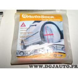 Paire chaussettes neige Autosock 54 pour citroen saxo AX C1 fiat seicento ford ka fiesta hyundai atos getz kia picanto smart maz