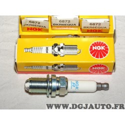 Lot 4 bougies allumage 4 electrodes NGK 6872 BKR6EQUA pour audi A4 A6 A8 BMW serie 1 3 E81 E87 E90 ford galaxy opel astra G omeg