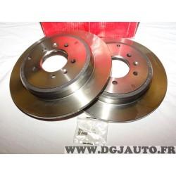 Paire disques de frein arriere plein 290mm diametre Brembo 08534420 pour peugeot 605