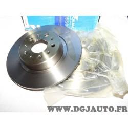 Paire disques de frein avant plein 256mm diametre Requal RDP176 pour audi 80 de 1991 à 1994